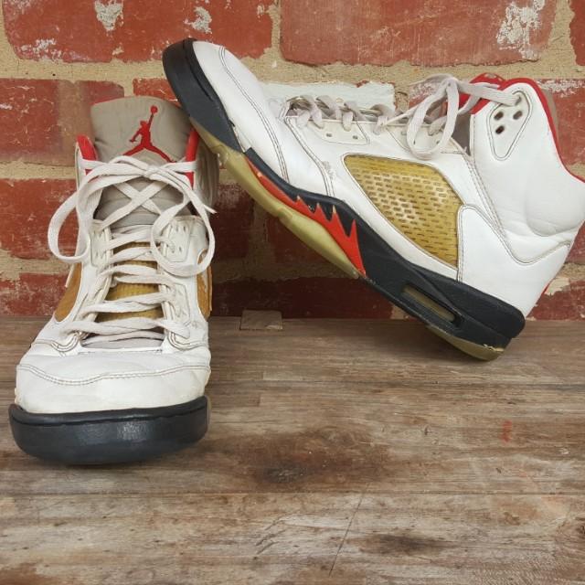 Nike Air Jordan Fire Red 5 - 1999 Vintage Retro Authentic US12.5