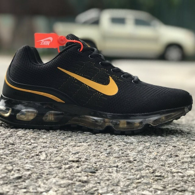 check out 3ff9c b95a0 ... best price nike airmax 360 black gold mens fashion footwear on  carousell 8dce3 7761d