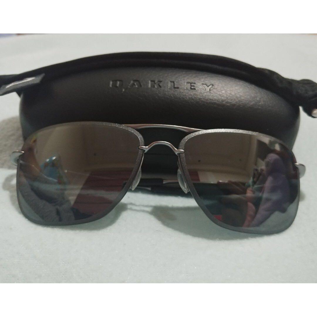 a9560471182 Oakley Tailhook OO4087-06 Polarized Titanium Iridium Sunglasses ...
