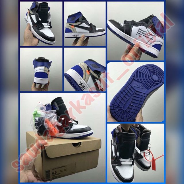 Off-White™ X Fragment Air Jordan 1 Custom Royal Blue (premium 1 1 ... 154e281b24