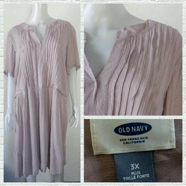 Old Navy Plus Size Old Rose Chiffon Dress