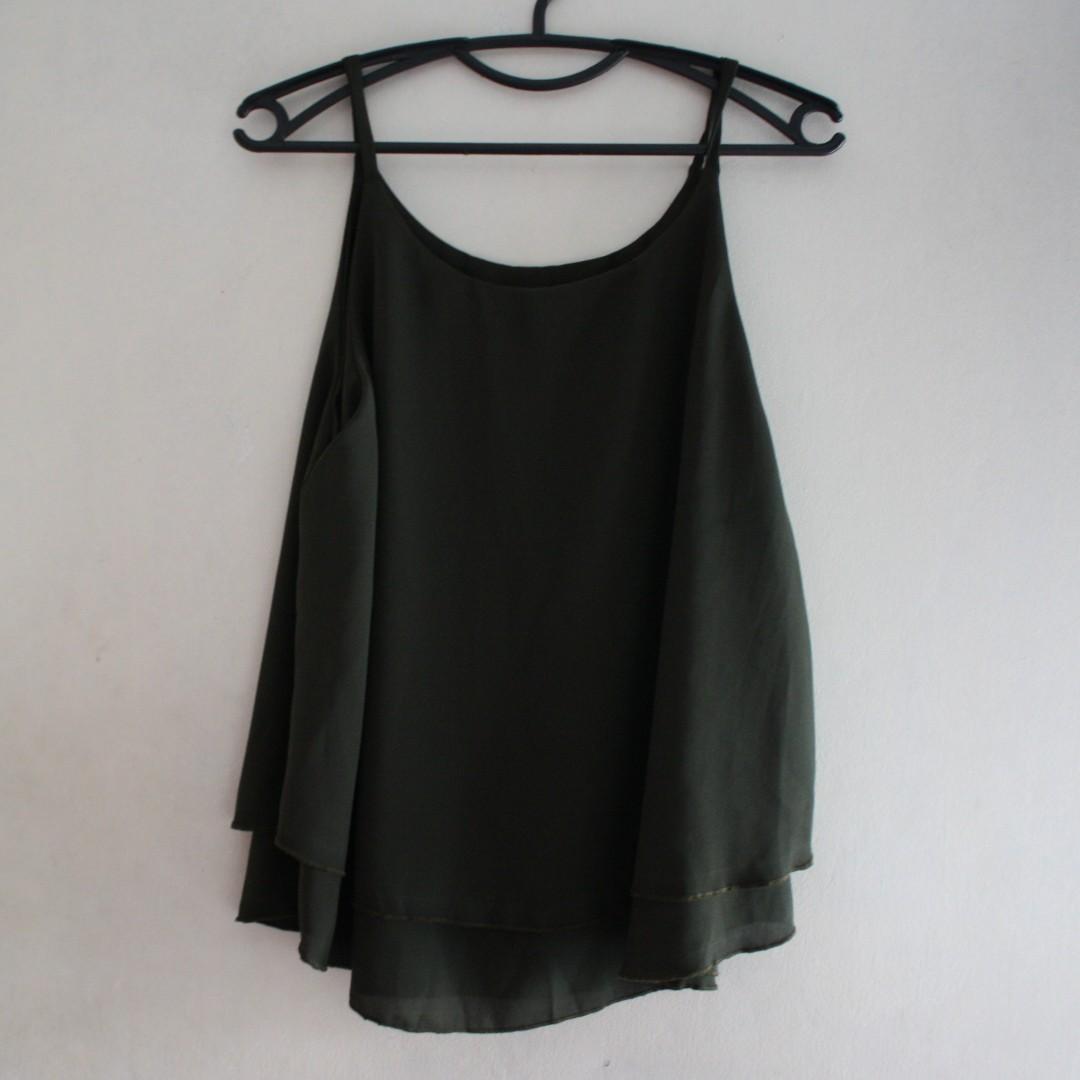 Olive Green Sleeveless