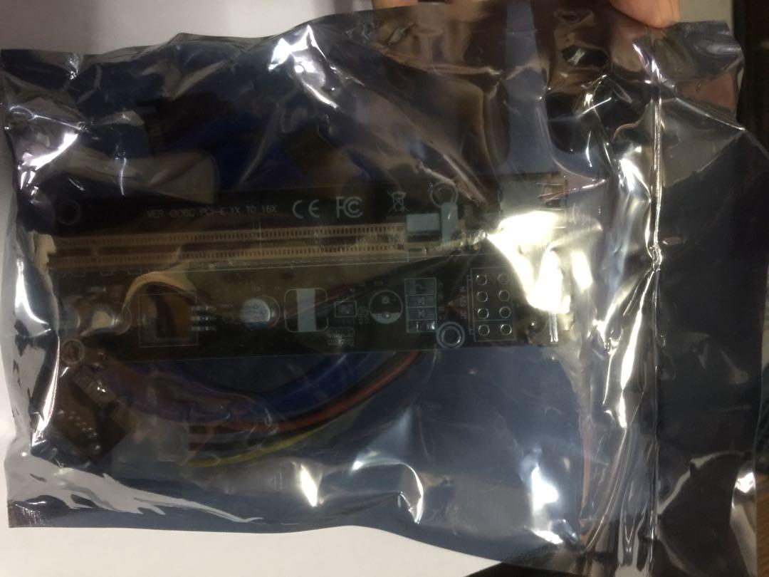 PCIE PCI-E PCI Express Riser Card 1x to 16x USB 3.0 SATA to 4Pin