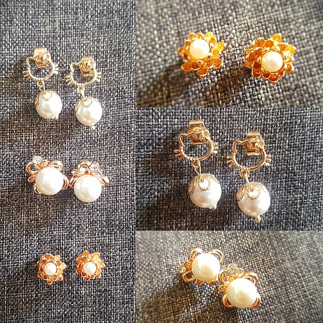 Pearl Set Fancy Earings