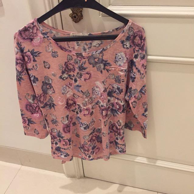 Preloved-Atasan Bunga2 Pink