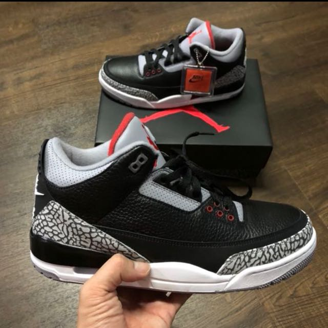 big sale 843e6 9a209 Price firm : Us9 and us9.5 Nike Air Jordan 3 Cement