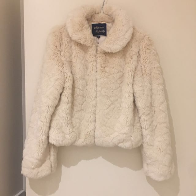Princess highway Faux Fur Cropped Jacket