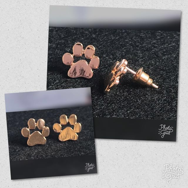 Purfect Paw Earring - Rose Gold