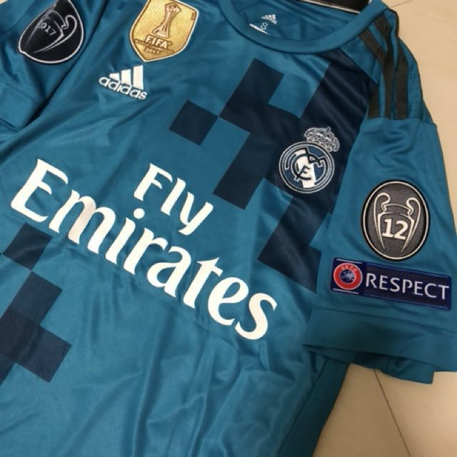 best service de7cb acaef Real Madrid 3rd kit 17/18 - UCL Champions, Sports, Sports ...