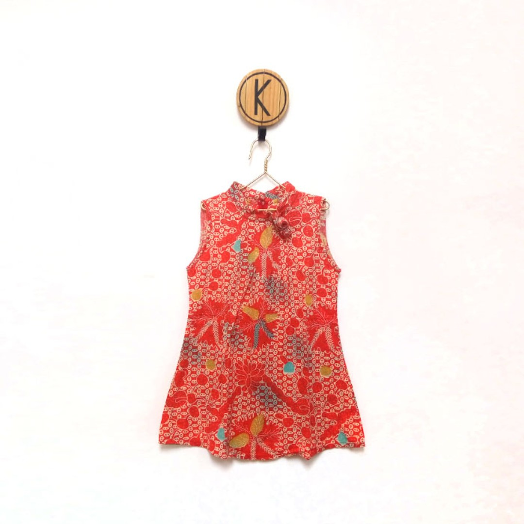 Red Batik Top - Atasan