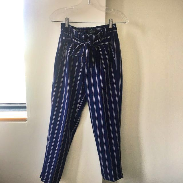 REDUCED Women's striped Blue and Red pants