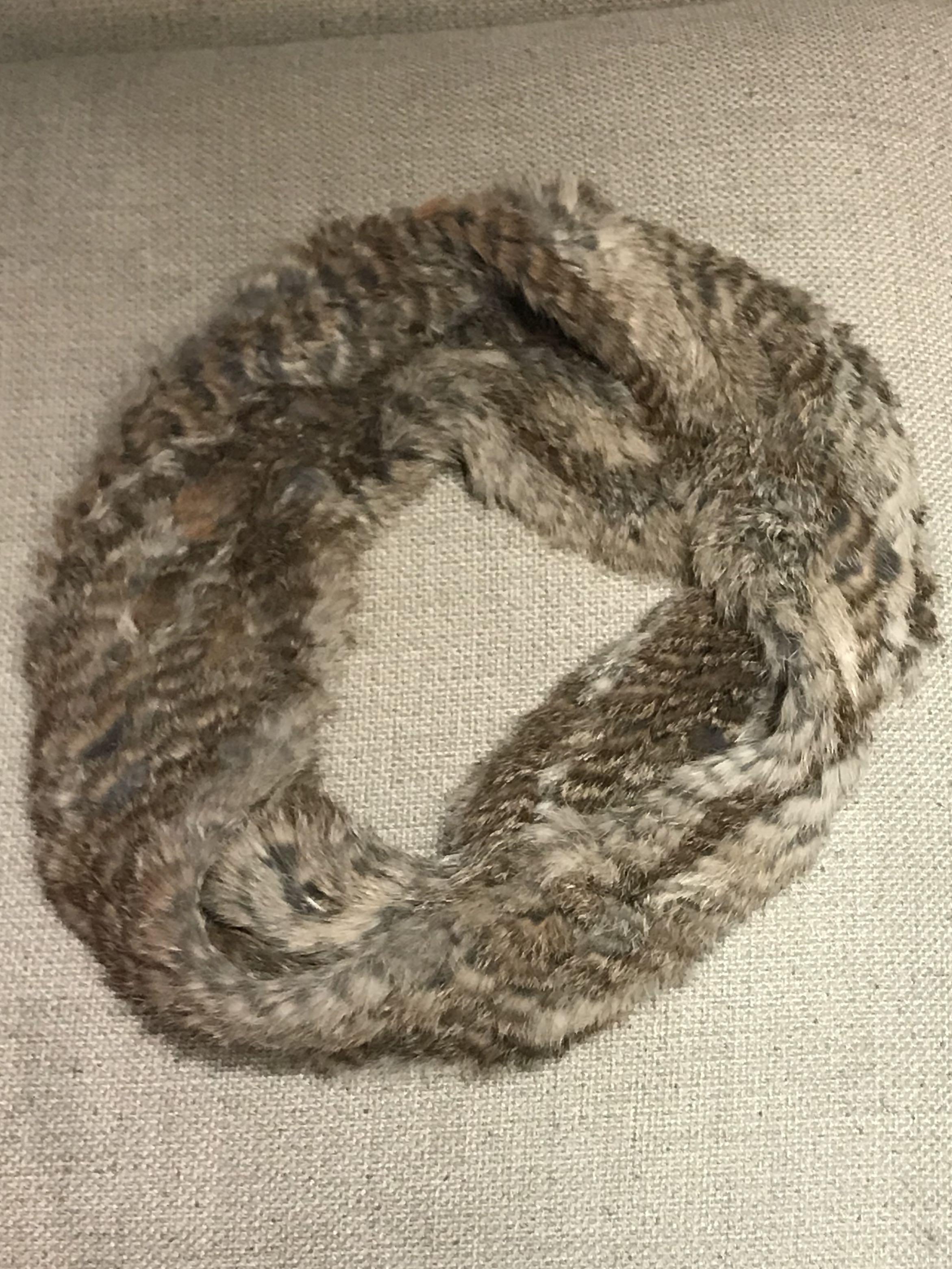 Rudsak Rabbit Fur Loop Scarf
