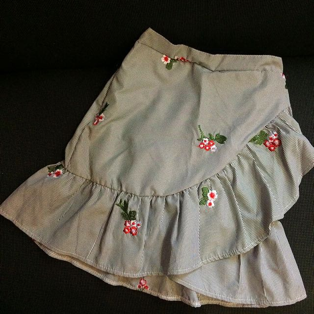 Ruffled Skirt with Embroidery