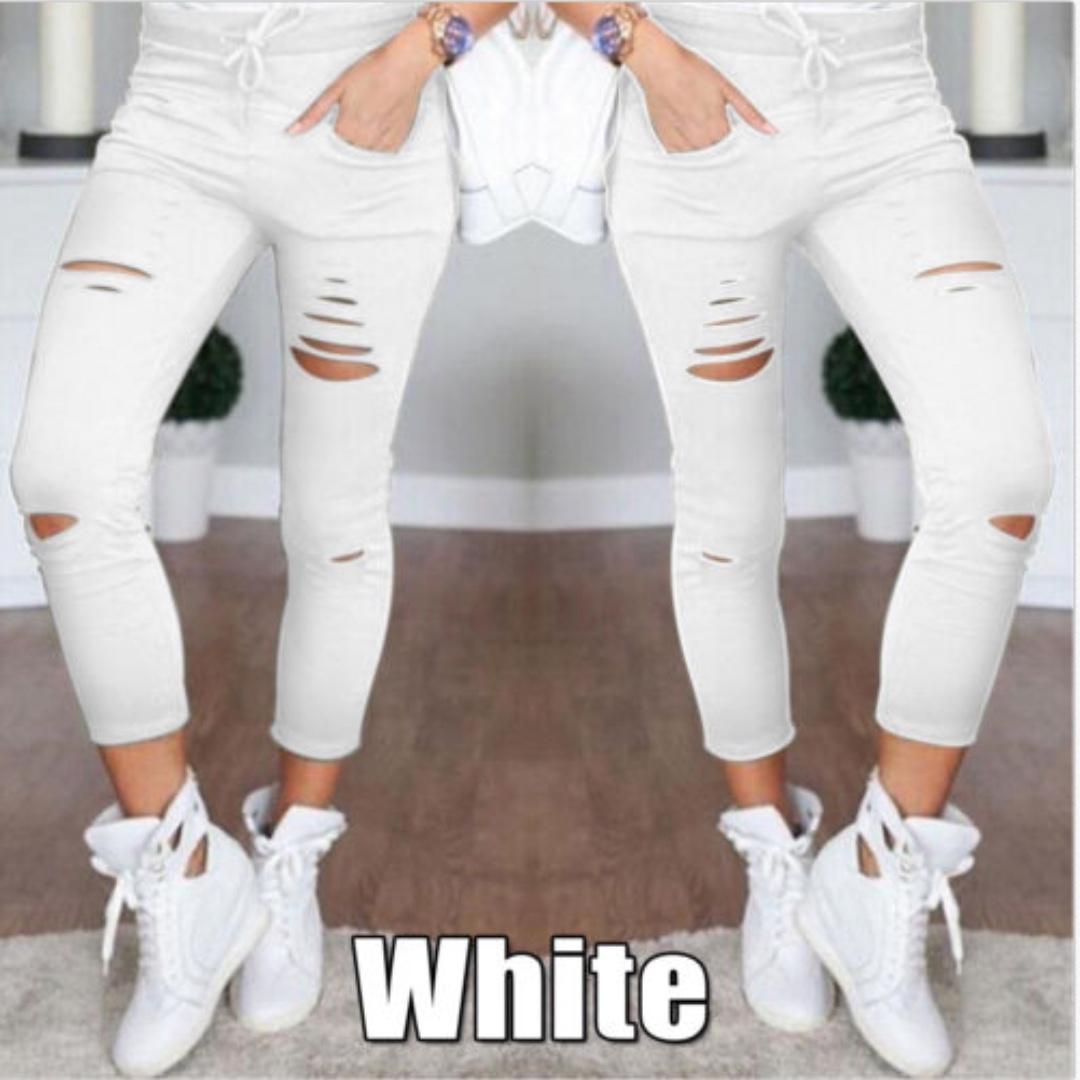 Slim Fit Pencil Pants Casual Skinny Stretch  Trousers Leggings