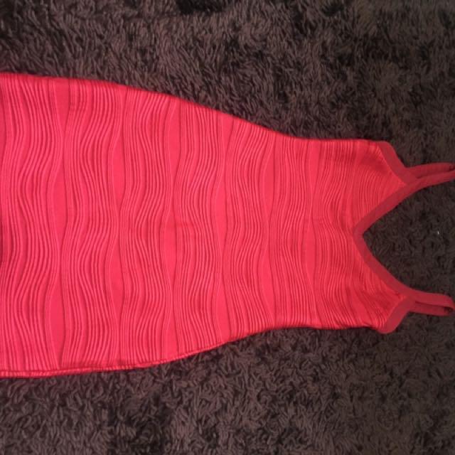 Something borrow red dress