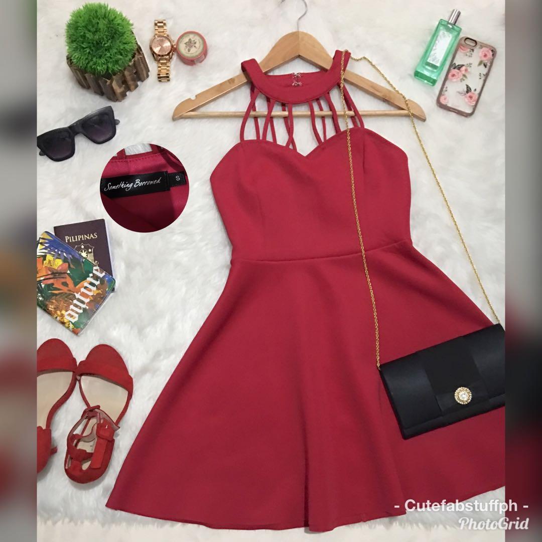 Something Borrowed Cherry Red Dress