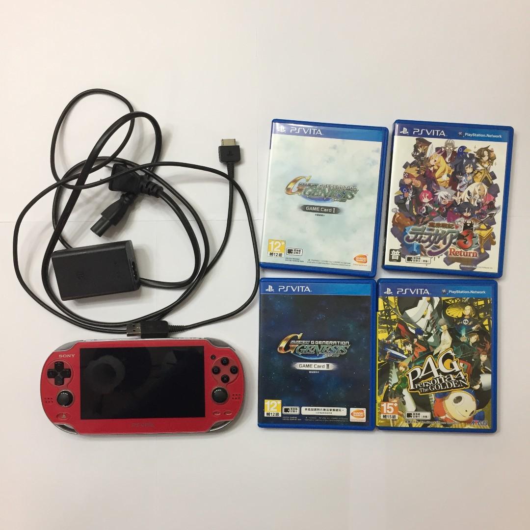 SONY PS Vita 1007型  PSV主機附4款遊戲