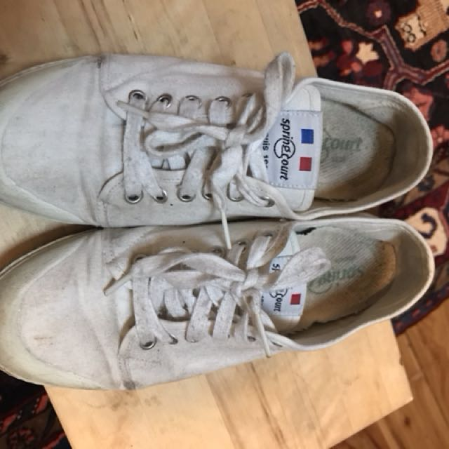 Spring court/springcourt white canvas sneakers - size 40