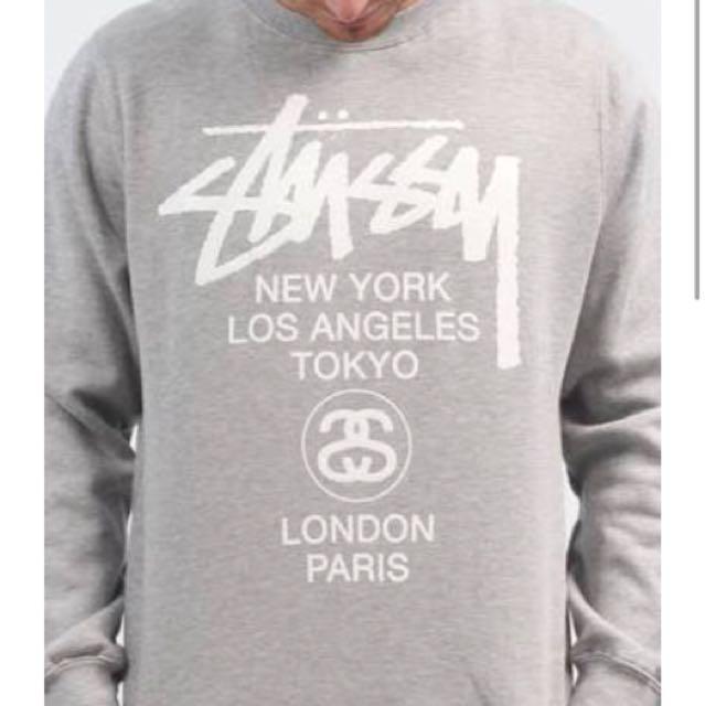 Stussy world tour crew neck sweat shirt