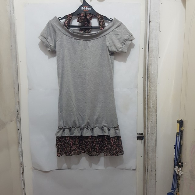 [SUBSIDI ONGKIR IDR 10.000] Grey Short Dress