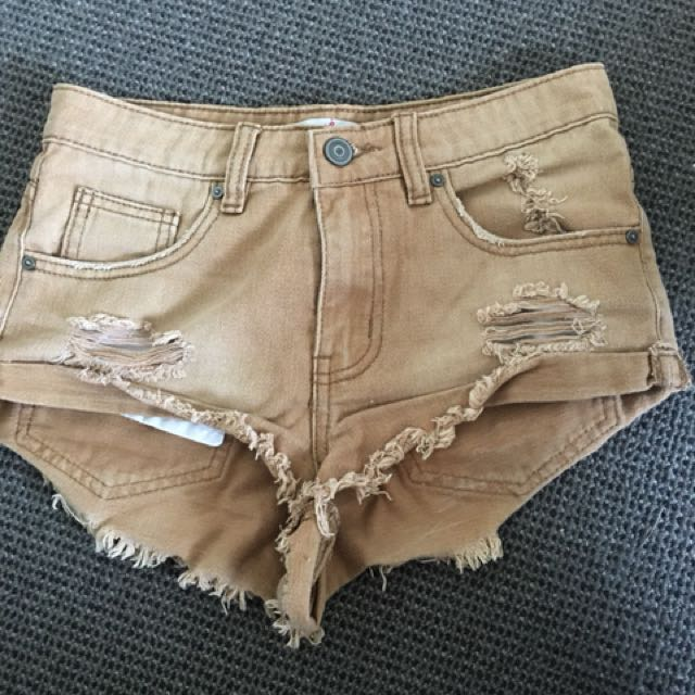 Supre brown shorts size 6