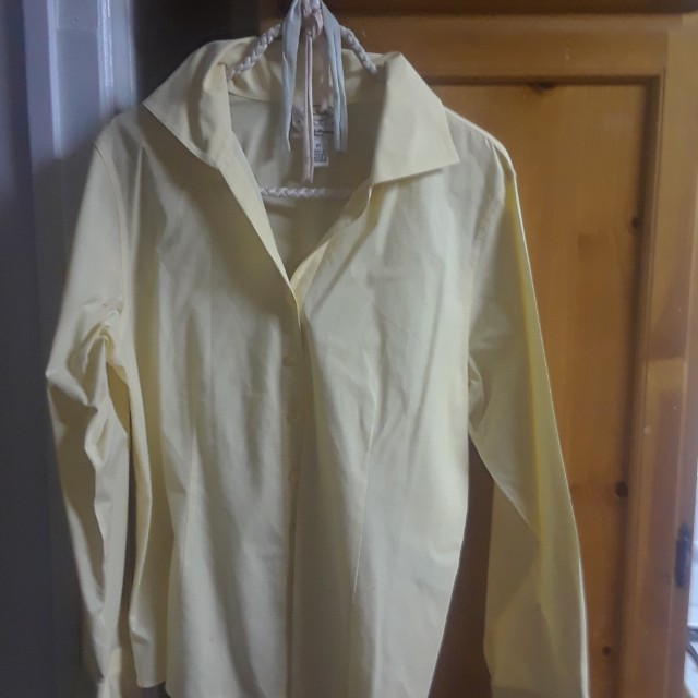Talbots. Beautiful yellow blouse