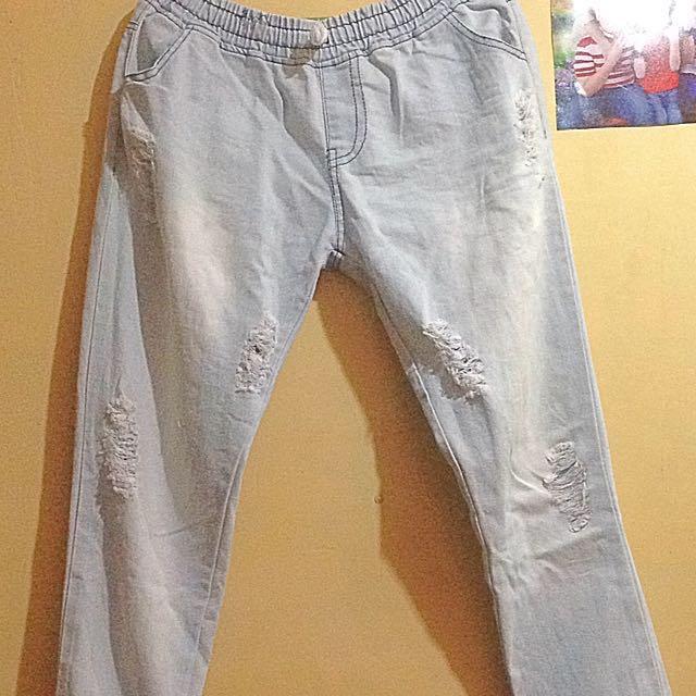 Tattered jogger pants