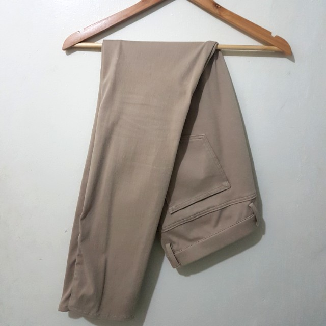 Uniqlo stretchable pants - cream