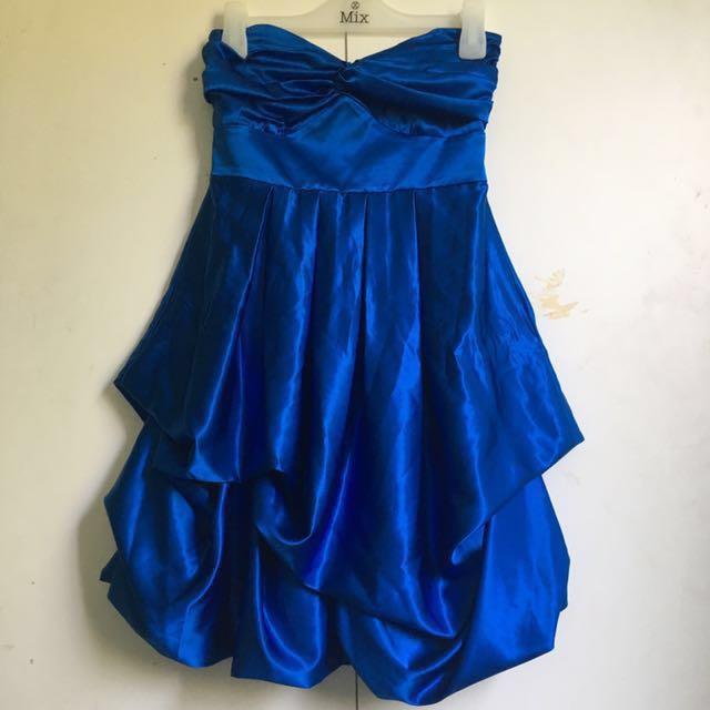 ~USED ONCE~ Blue Formal Dress [#42]