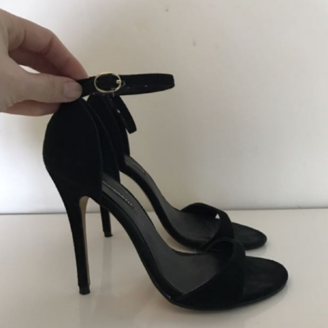 Windsor smith black suede strappy heels size 7
