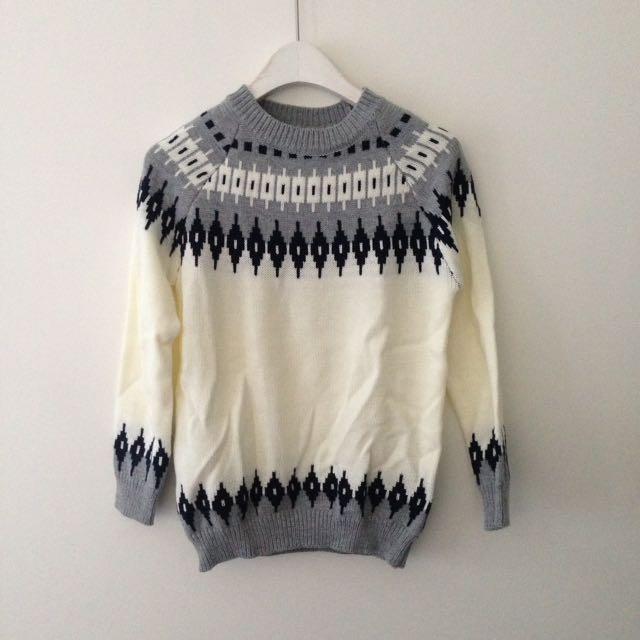 Winter snow flakes sweater