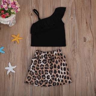 SET LEOPARD SKIRT
