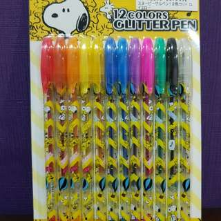 Authentic Japan: Snoopy & Peanuts 12 Glitter Pen