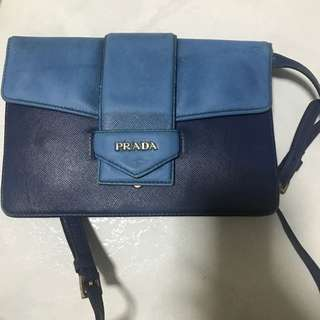 Prada Blue sling bag
