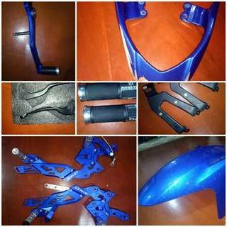 Y15 RCB footrest, gear stand, clutch and break lever and many more.