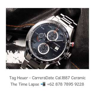 Tag Heuer - Carrera Date Cal.1887 Grey Ceramic Chronograph (New Old Stock)