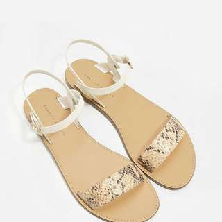 Charles & Keith Textured Sandals