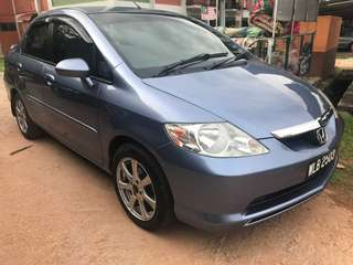 Honda city 1.5 auto Yr2003  Loan kedai/kredit 100% APPROVED! For Cris/ctos/blacklist/cash salary/ptptn  PM Dp + processing  Estimate rm400.00 x 4/5yrs  Fast Deal & Approval Trade in accept Call/whatsapp