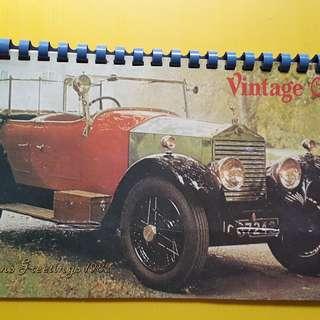 VINTAGE CARS - 1982 - FULL CALENDAR - india