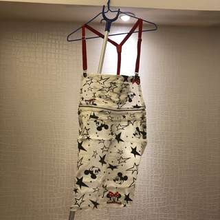 Minnie Mouse overall jump dress (can be separated into a skirt)