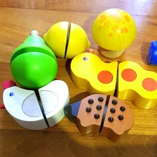 Wooden Toys mix and match and pair up