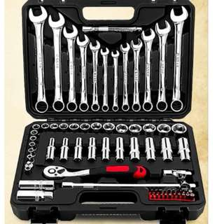 Brand New 69 Pcs Professional Car Ratchet Wrench Tools Set