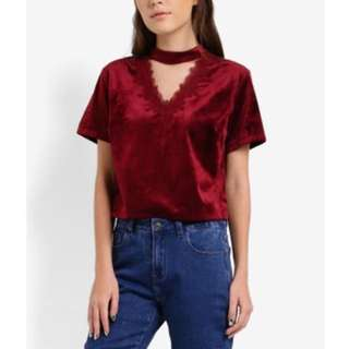 Zalora Red Crop Top