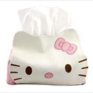 Hello kitty 衛生紙皮套 可換物