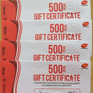 Phoenix Petroleum Gift Certificates