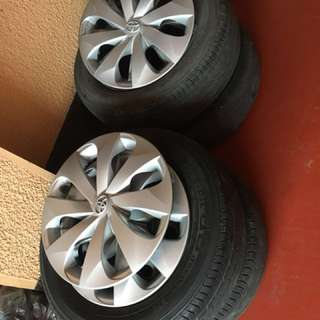 Mags stock steel toyota vios with tires