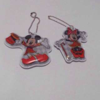 Disney Mickey Mouse & Minnie Mouse Reflective Soft Keychain