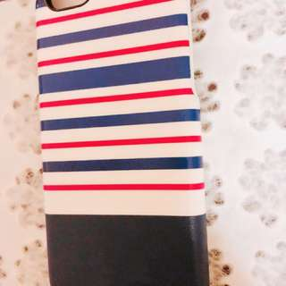 iPhone 6 blue white red stripes case