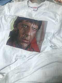 M Supreme Scarface Shower Tee White