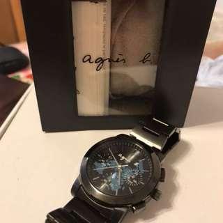 agnes b 黑綱籃圈手錶(80%新)可議價